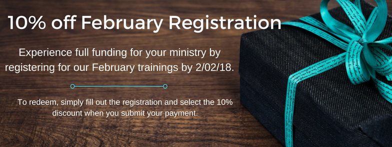 10% off February Registration